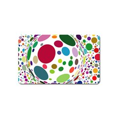 Color Ball Magnet (Name Card)