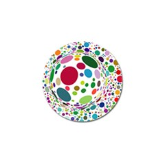 Color Ball Golf Ball Marker (4 pack)