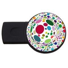 Color Ball Usb Flash Drive Round (2 Gb) by Mariart