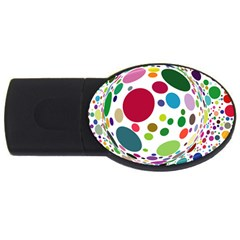 Color Ball Usb Flash Drive Oval (2 Gb) by Mariart