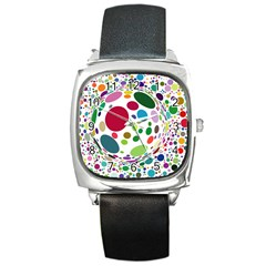 Color Ball Square Metal Watch