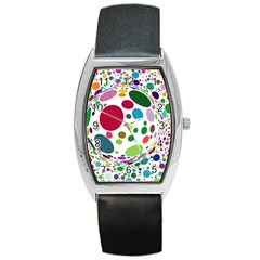 Color Ball Barrel Style Metal Watch