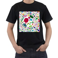 Color Ball Men s T-Shirt (Black) (Two Sided)
