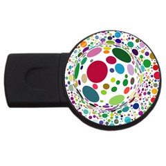 Color Ball USB Flash Drive Round (4 GB)