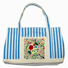 Color Ball Striped Blue Tote Bag by Mariart