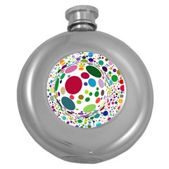 Color Ball Round Hip Flask (5 oz)