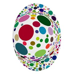 Color Ball Oval Ornament (Two Sides)