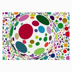 Color Ball Large Glasses Cloth (2-Side)