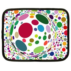 Color Ball Netbook Case (Large)