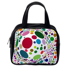 Color Ball Classic Handbags (One Side)