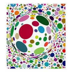 Color Ball Shower Curtain 66  x 72  (Large)