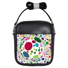 Color Ball Girls Sling Bags