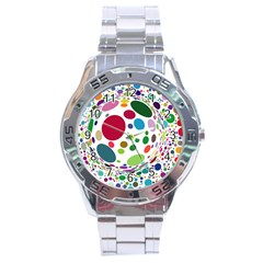 Color Ball Stainless Steel Analogue Watch