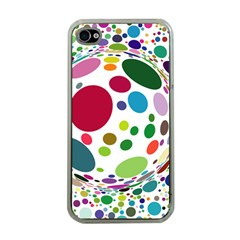 Color Ball Apple iPhone 4 Case (Clear)