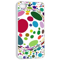 Color Ball Apple iPhone 4/4s Seamless Case (White)