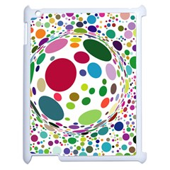 Color Ball Apple iPad 2 Case (White)