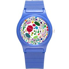 Color Ball Round Plastic Sport Watch (S)