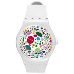 Color Ball Round Plastic Sport Watch (M)