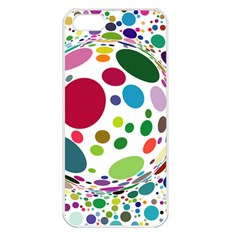 Color Ball Apple iPhone 5 Seamless Case (White)