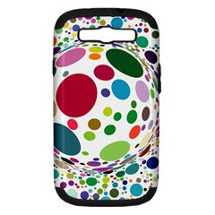 Color Ball Samsung Galaxy S III Hardshell Case (PC+Silicone)
