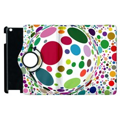 Color Ball Apple Ipad 3/4 Flip 360 Case by Mariart
