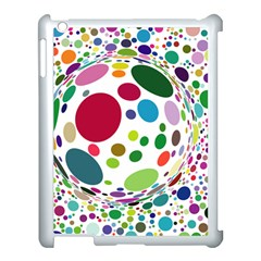 Color Ball Apple iPad 3/4 Case (White)