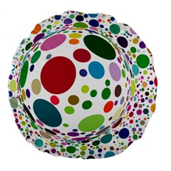 Color Ball Large 18  Premium Round Cushions