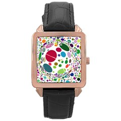 Color Ball Rose Gold Leather Watch