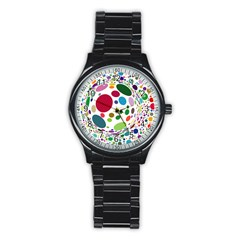 Color Ball Stainless Steel Round Watch