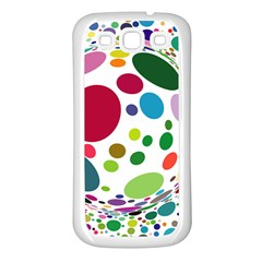 Color Ball Samsung Galaxy S3 Back Case (White)
