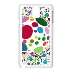 Color Ball Samsung Galaxy Note 3 N9005 Case (White)