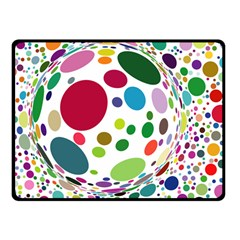 Color Ball Double Sided Fleece Blanket (Small)