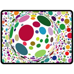 Color Ball Double Sided Fleece Blanket (Large)