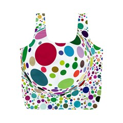 Color Ball Full Print Recycle Bags (M)
