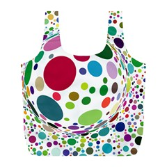 Color Ball Full Print Recycle Bags (L)