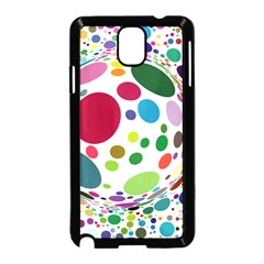Color Ball Samsung Galaxy Note 3 Neo Hardshell Case (black) by Mariart
