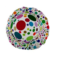 Color Ball Standard 15  Premium Flano Round Cushions