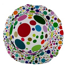 Color Ball Large 18  Premium Flano Round Cushions