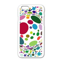 Color Ball Apple iPhone 6/6S White Enamel Case