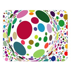 Color Ball Double Sided Flano Blanket (Large)