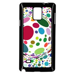 Color Ball Samsung Galaxy Note 4 Case (black) by Mariart