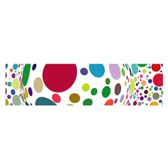 Color Ball Satin Scarf (Oblong)
