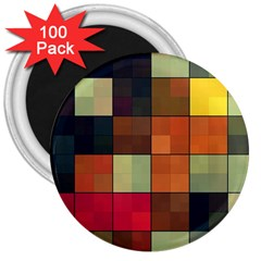 Background With Color Layered Tiling 3  Magnets (100 Pack) by Simbadda