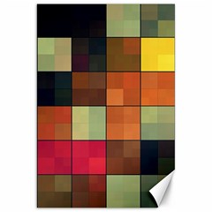 Background With Color Layered Tiling Canvas 20  X 30   by Simbadda