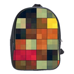 Background With Color Layered Tiling School Bags(large)  by Simbadda