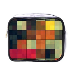 Background With Color Layered Tiling Mini Toiletries Bags