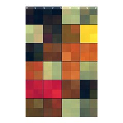 Background With Color Layered Tiling Shower Curtain 48  X 72  (small)  by Simbadda