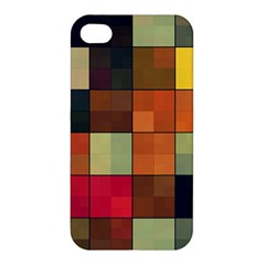Background With Color Layered Tiling Apple Iphone 4/4s Premium Hardshell Case by Simbadda