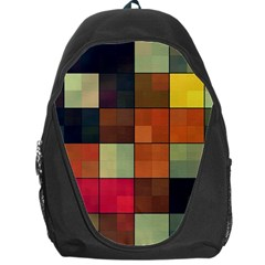Background With Color Layered Tiling Backpack Bag