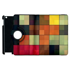 Background With Color Layered Tiling Apple Ipad 3/4 Flip 360 Case by Simbadda